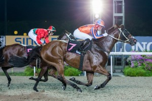 King Savinsky winning in Singapore 22nd April 2016 - Click to enlarge